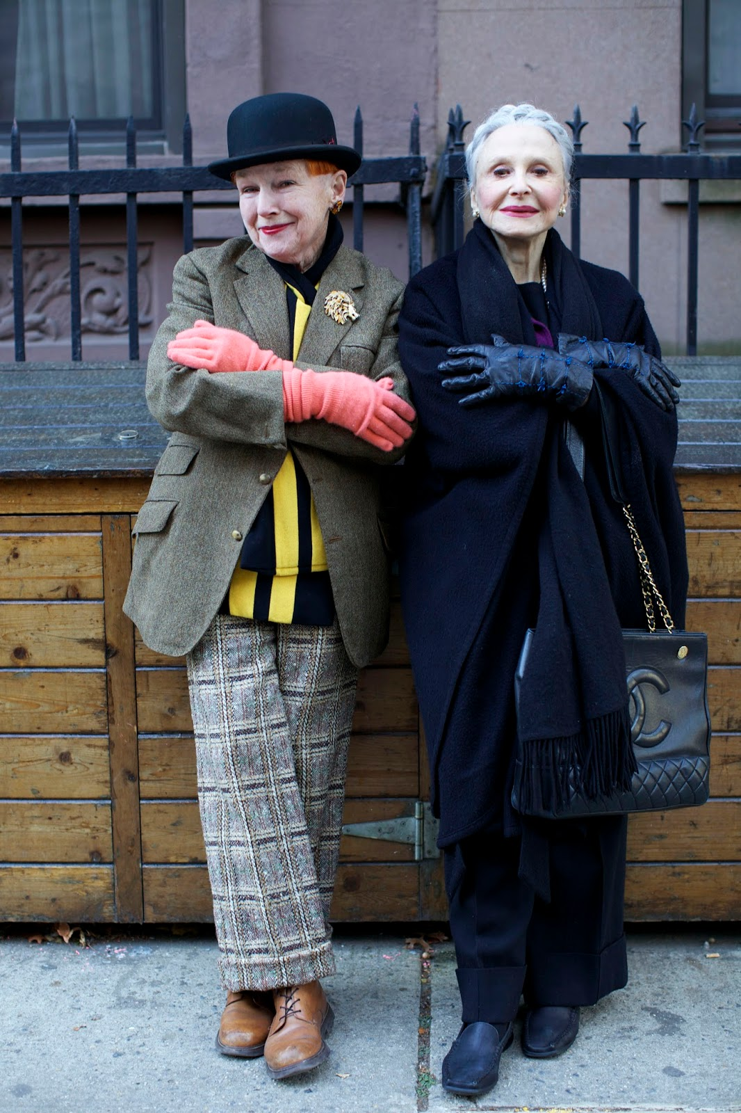 Joyce And Alice Advanced Style