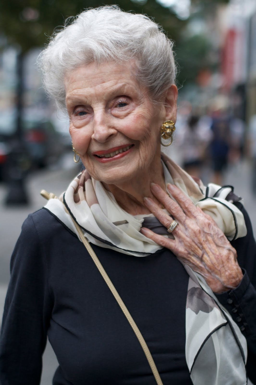 advanced style profile of a 100 year old lady - advanced style